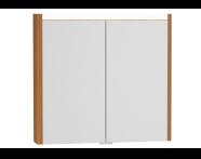 54681 - T4 Illuminated Mirror Cabinet, 80 cm, Hacienda Brown
