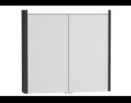 54684 - T4 Illuminated Mirror Cabinet, 80 cm, Matte Grey