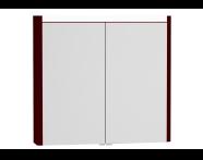 54685 - T4 Illuminated Mirror Cabinet, 80 cm, Matte Burgundy