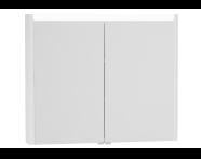 54686 - T4 Illuminated Mirror Cabinet, 90 cm, White High Gloss