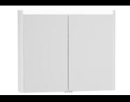 54689 - T4 Illuminated Mirror Cabinet, 90 cm, Matte White