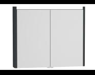54690 - T4 Illuminated Mirror Cabinet, 90 cm, Matte Grey