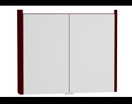 54691 - T4 Illuminated Mirror Cabinet, 90 cm, Matte Burgundy
