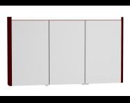 54696 - T4 Illuminated Mirror Cabinet, 130 cm, Matte Grey