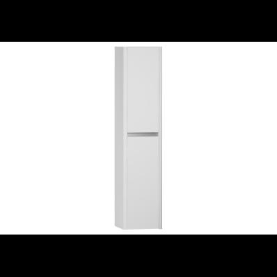 T4 Tall Unit, 2 Doors, 35x35x160 cm, High Gloss White, Left
