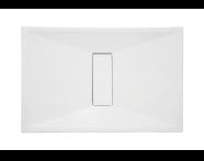 54710011000 - Slim 140x75 cm Dikdörtgen Flat(Gömme), Akrilik Gider Kapağı, Sifon