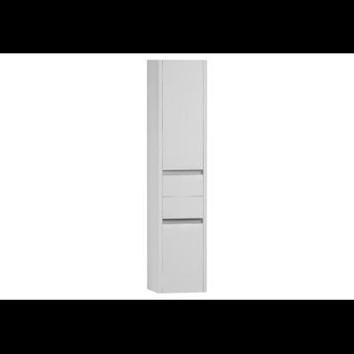 T4 Boy dolabı, çekmeceli, 35 cm, Parlak Beyaz, sol