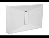 54720010000 - Slim 140x75 cm Dikdörtgen Monoblok, Krom Gider Kapağı, Sifon