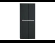 54732 - T4 Double Tall Unit, Matte Grey