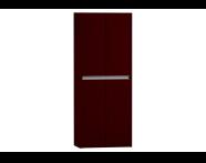54733 - T4 Double Tall Unit, Matte Burgundy