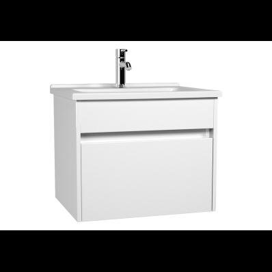 s50+ Lavabo dolabı, 60 cm, Parlak Beyaz
