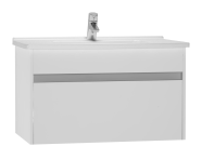 54738 - S50 Washbasin Unit Including Basin, 80 cm, High Gloss White