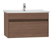 54740 - S50 Washbasin Unit Including Basin, 80 cm, Oak