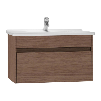 s50 washbasin unit including basin  80 cm  oak vitra uk Contemporary Home Kitchens Contemporary Home Powder Room