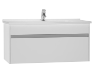 54742 - S50 Washbasin Unit Including Basin, 100 cm, High Gloss White