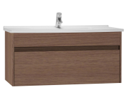 54744 - S50 Washbasin Unit Including Basin, 100 cm, Oak