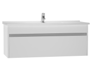 54746 - S50 Washbasin Unit Including Basin, 120 cm, High Gloss White