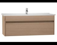 54747 - S50 + Washbasin Unit 120 cm Golden Cherry