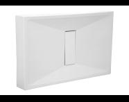 54750010000 - Slim 140x90 cm Dikdörtgen Monoblok, Krom Gider Kapağı, Sifon