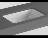 5475B003-0618 - S20 Tezgah Altı Lavabo, 48 cm Armatür Deliksiz, Su Taşma Delikli