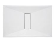 54760011000 - Slim 140x90 cm Dikdörtgen Sıfır Zemin, Akrilik Gider Kapağı, Sifon