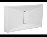 54780027000 - Slim 160x75 cm Dikdörtgen Monoblok, Krom Gider Kapağı