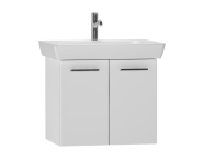 54782 - S20 Washbasin Unit Including Basin, 65 cm, High Gloss White