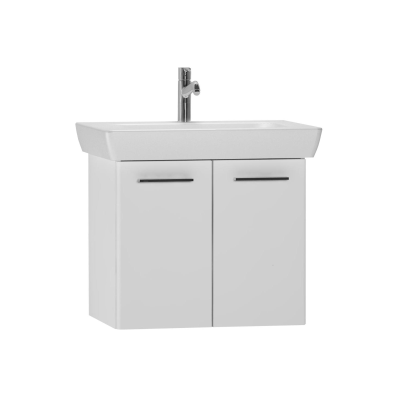 S20 Washbasin Unit Including Basin, 65 cm, High Gloss White