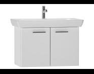 54784 - S20 Lavabo dolabı, 80 cm, Parlak beyaz