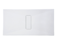 54790010000 - Slim 160x75 cm Dikdörtgen Sıfır Zemin, Krom Gider Kapağı, Sifon
