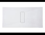 54790011000 - Slim 160x75 cm Dikdörtgen Sıfır Zemin, Akrilik Gider Kapağı, Sifon