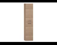 54798 - S20 Boy dolabı, 2 kapaklı, 35 cm, Altın kiraz, sol