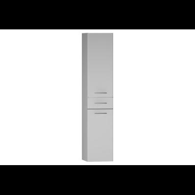 S20 Boy dolabı, çekmeceli, 35 cm, Parlak Beyaz, sol
