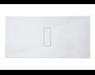 54800010000 - Slim 160x90 cm Dikdörtgen Flat(Gömme), Krom Gider Kapağı, Sifon