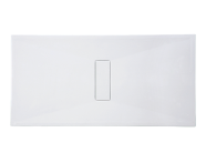 54800027000 - Slim 160x90 cm Dikdörtgen Flat(Gömme), Krom Gider Kapağı