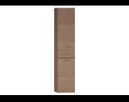 54801 - S20 Boy dolabı, çekmeceli, 35 cm, Altın kiraz, sol