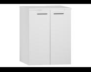 54807 - S20 Çamaşır makinesi dolabı, 69 cm, u-oyuklu, Parlak beyaz