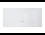 54820010000 - Slim 160x90 cm Dikdörtgen Sıfır Zemin, Krom Gider Kapağı, Sifon