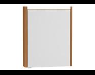 54954 - T4 Illuminated Mirror Cabinet, 60 cm Right Hacienda Brown
