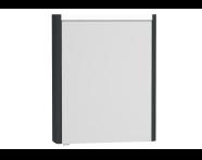54957 - T4 Illuminated Mirror Cabinet, 60 cm Right Matte Grey