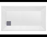 54990005000 - T70 130x70 cm Dikdörtgen Flat(Ayaklı ve Panelli) , Ayak, Sifon