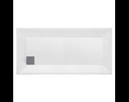 55010002000 - T70 150x70 cm Dikdörtgen Flat(Gömme) Duş Teknesi