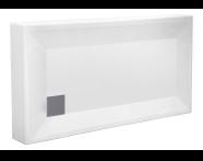 55070002000 - T70 130x70 cm Dikdörtgen Monoblok Duş Teknesi
