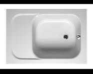 55120007000 - Balance Oturmalı 110x75 cm Dikdörtgen, Kumandalı Sifon,Ayak