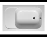 55130007000 - Balance Oturmalı 120x75 cm Dikdörtgen, Kumandalı Sifon,Ayak
