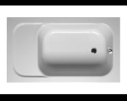 55140007000 - Balance Oturmalı 130x75 cm Dikdörtgen, Kumandalı Sifon,Ayak