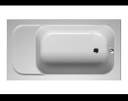 55150005000 - Balance Oturmalı 140x75 cm Dikdörtgen, Kumandalı Sifon
