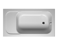 55150007000 - Balance Oturmalı 140x75 cm Dikdörtgen, Kumandalı Sifon,Ayak