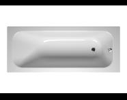 55180043000 - Balance 170x70 cm Dikdörtgen/Tek Taraflı, Kumandalı Sifon,Ayak, Çift Tutamaklı