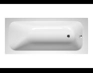 55190044000 - Balance 170x75 cm Dikdörtgen/Tek Taraflı ,Kumandasız Sifon,Ayak, Çift Tutamaklı